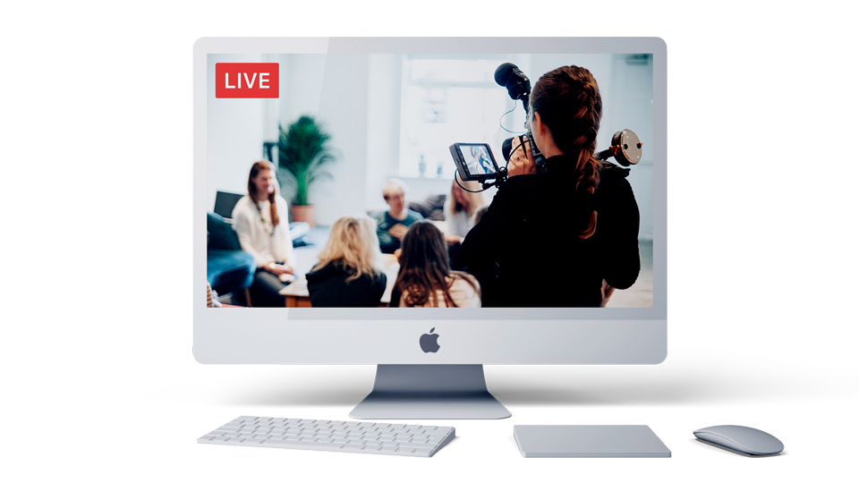 iMac with live video