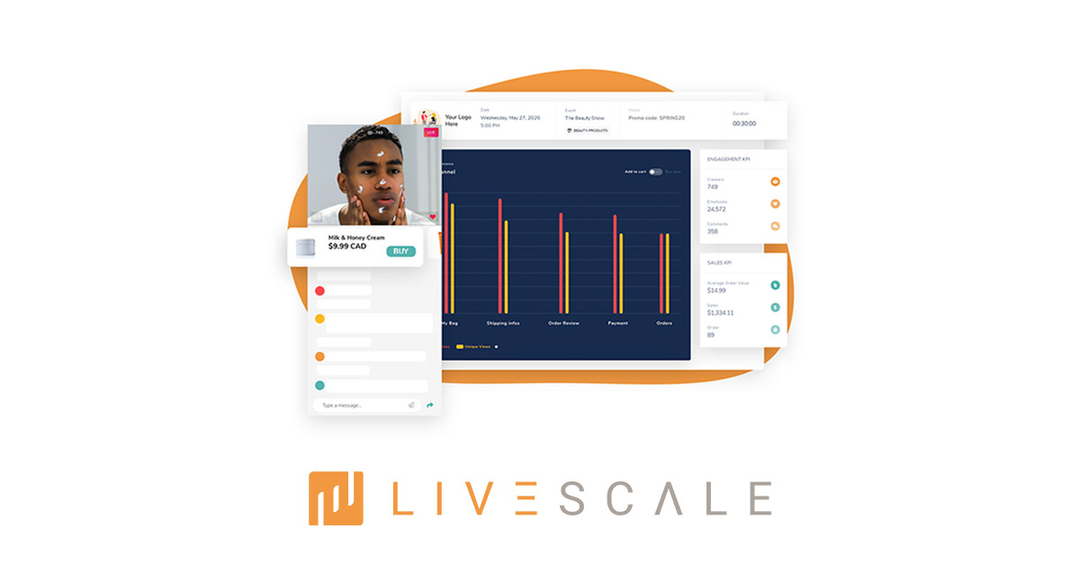 Branded LIVE Shopping sholution with real-time analytics dashboard