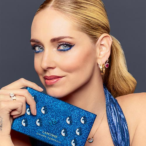 Chiara Ferragni Holding Lancome Palette for Beauty Live Shopping Show