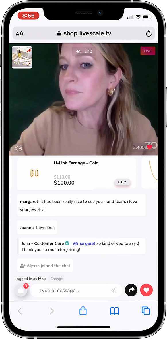 Jenny Bird on Live Shopping Event using Livescale