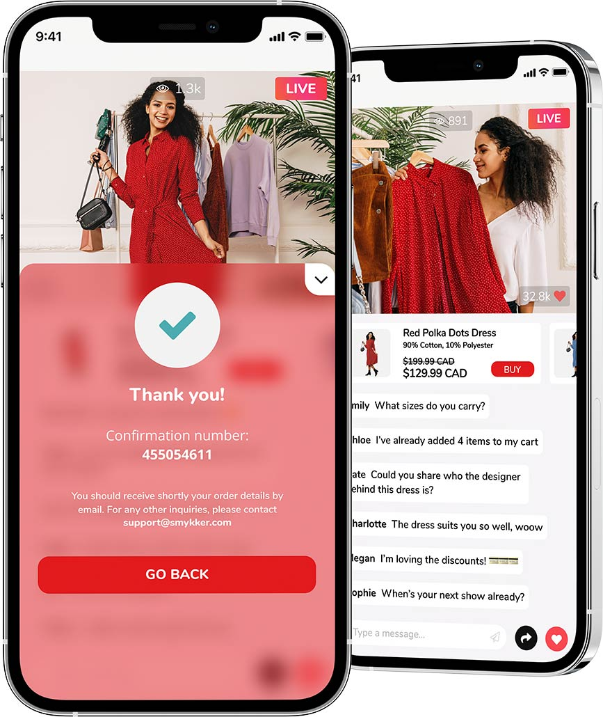Fashion Live Shopping Show with Check Out on Livescale