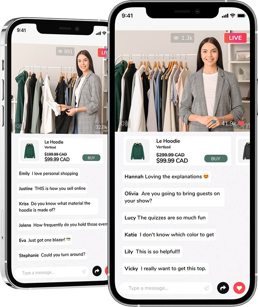 Live Shopping Show with Fashion Stylist on Livescale