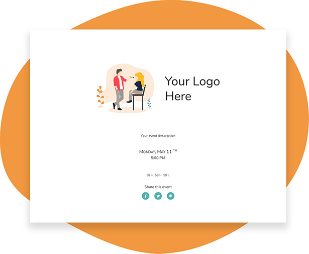 Customizable LIVE Shopping experience with brand logo, brand colour and brand message